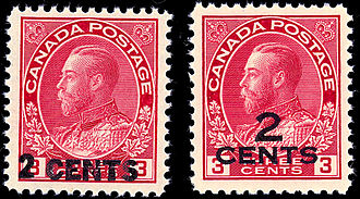 Admirals (philately) - King George V Overprints of 1926