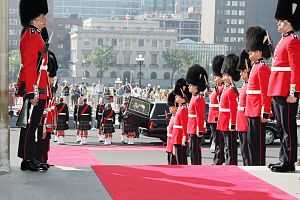 Dress uniform - Canadian Grenadier Guards in full dress uniform.