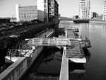 Canal lock, Princes Dock, Liverpool.JPG