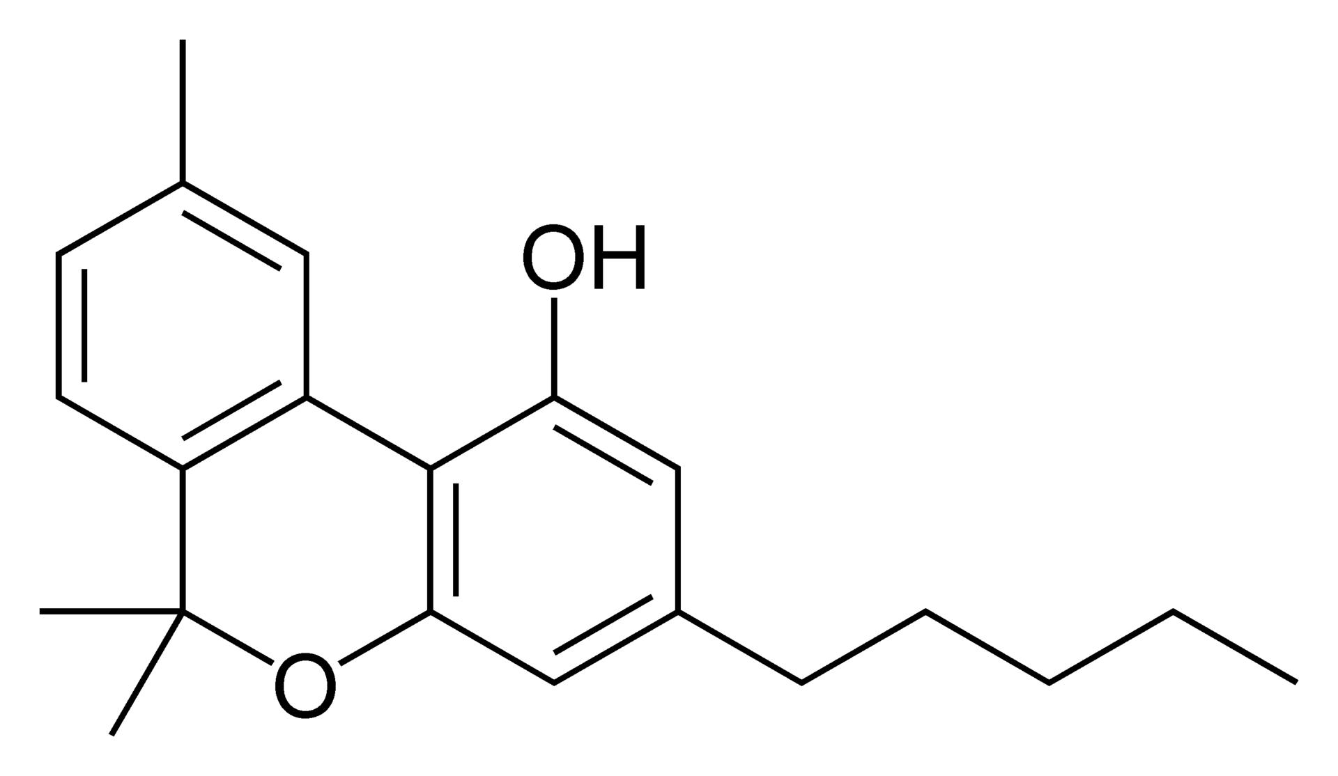 Strukturformel Cannabinol
