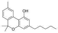 Chemical structure of cannabinol