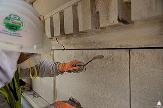 Repointing - Layering New Mortar