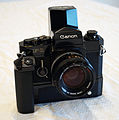 Canon F-1 with Power Winder F and Speed Finder (15365483191).jpg