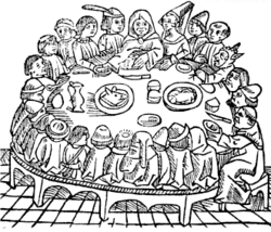 Illustration pour les Contes de Cantorbery de Geoffrey Chaucer