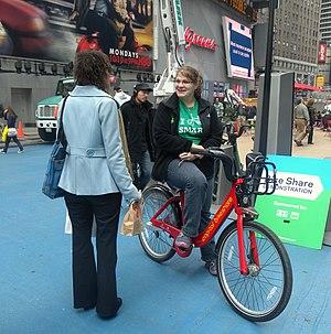 Capital Bikeshare - Capital Bikeshare demonstration in Times Square, New York City