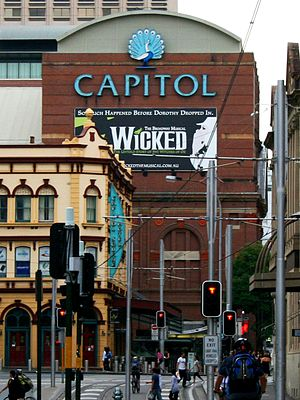 Capitol Theatre, Sydney - Wicked played in the 2009/2010 season.