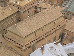 Sixtinische kapelle wikipedia for Exterieur chapelle sixtine