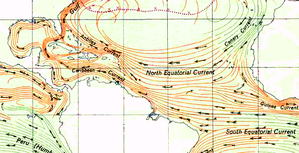 Caribbean Current - Caribbean current, a warm ocean current in Caribbean Sea