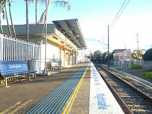Carlingford railway station - Southbound view in August 2012
