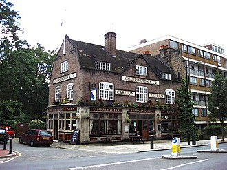 Maida Vale - The Carlton Tavern (1922), was an example of 1920s architecture. The Carlton Tavern has now been demolished.