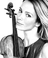 Caroline Campbell black and white with violin.jpg