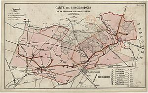 Compagnie des mines d'Anzin - The railway was the main artery of the Compagnie d'Anzin.