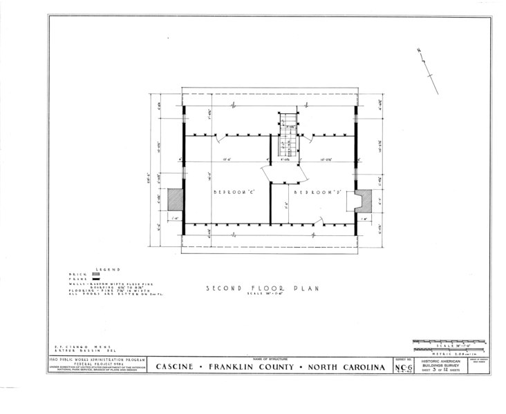 File:Cascine, State Route 1702, Louisburg, Franklin County, NC HABS NC,35-LOUBU.V,1- (sheet 3 of 12).tif