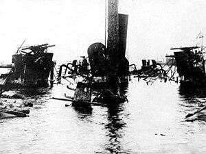 Spanish cruiser Castilla - A view aboard the wreck of Castilla.
