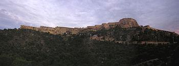 Castillo santa barbara panoramica alicante