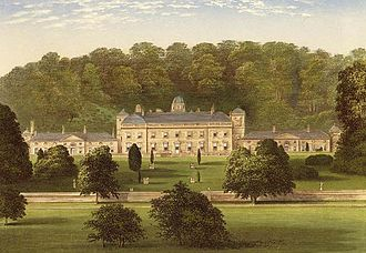 "Castle Hill, Filleigh - Castle Hill in 1880, south facade, published in Morris's ""Country Seats"""
