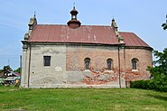 Catholic church in Lyuboml. View from south side