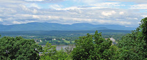 Catskill Escarpment - The Escarpment as seen from Olana State Historic Site, across the Hudson River