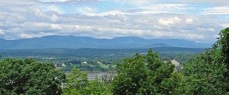 Catskill Escarpment - The Escarpment as seen from Olana State Historic Site, across the Hudson River