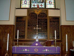Christ Church Royal Chapel - Image: Cctriptych