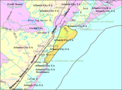 Census Bureau map of Ocean City, New Jersey
