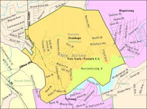 Census Bureau map of Stanhope, New Jersey.png