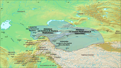 Location of Moghulistan (Eastern Chagatai Khanate) in 1490