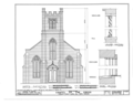 Chapel of the Cross, 304 East Franklin Street, Chapel Hill, Orange County, NC HABS NC,68-CHAP,1- (sheet 2 of 7).png