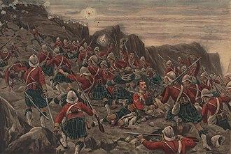 Stanley Berkeley - Image: Charge of the Gordon Highlanders at Dargai 1897