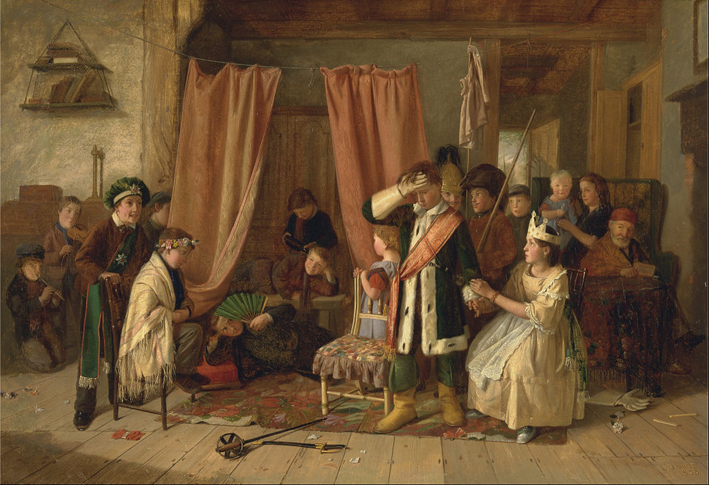 https://upload.wikimedia.org/wikipedia/commons/thumb/1/1c/Charles_Hunt_-_Children_acting_the_%27Play_Scene%27_from_%22Hamlet%2C%22_Act_II%2C_Scene_ii_-_Google_Art_Project.jpg/1024px-Charles_Hunt_-_Children_acting_the_%27Play_Scene%27_from_%22Hamlet%2C%22_Act_II%2C_Scene_ii_-_Google_Art_Project.jpg
