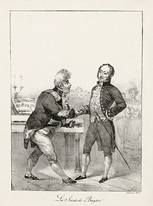 George IV (left) greeting Rossini at the Brighton Pavilion, 1823 (Source: Wikimedia)