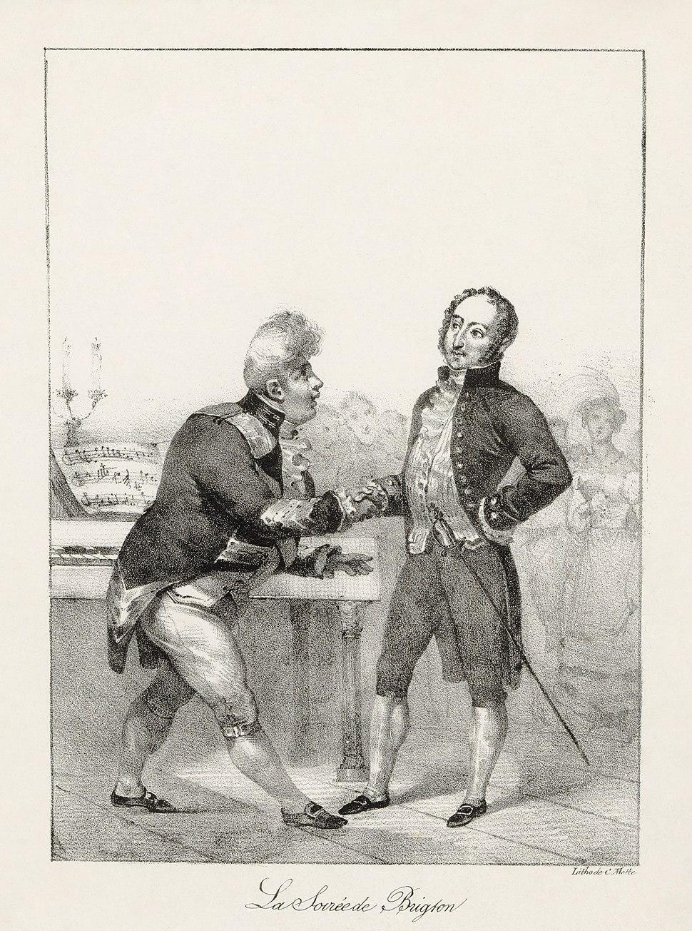 Charles Motte - Rossini et Georges IV - la soirée de Brighton
