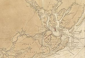 Siege of Charleston - Detail of a 1780 map drawn by a British engineer showing the Charleston defenses
