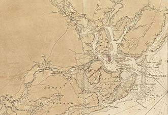 Ann Bates - Detail of a 1780 map drawn by a British engineer showing the Charleston defenses
