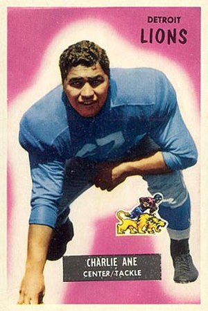 Charley Ane - Ane on a 1955 Bowman football card