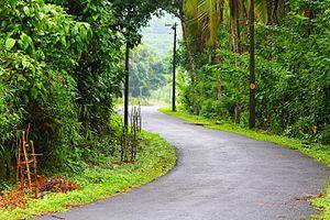 Cheriyoor - The road that passes through Cheriyoor