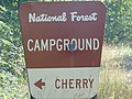 Cherry campground sign, Hobble Creek Canyon, Utah, Jul 16.jpg