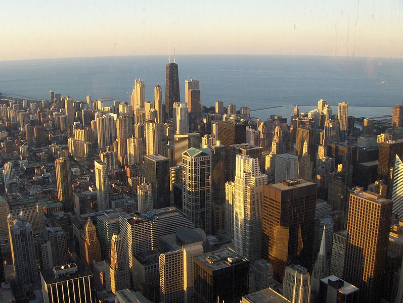 File:Chicago downtown view from Sears.JPG