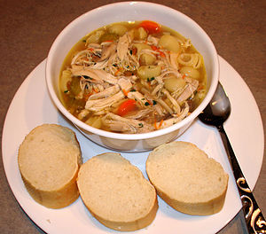 Comfort food - Chicken soup, a common classic comfort food that is found across various cultures