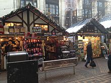 Image of German market stall in Nottingham City Centre 2016