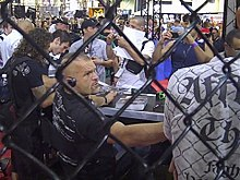 798741227150f Chuck Liddell - Chuck Liddell with the fans at the UFC 100 Fan Expo