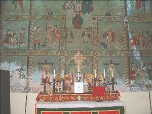 St. George Orthodox Church, Cheppad - Old murals in the church