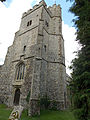 Church of the Holy Cross, Goodnestone - tower from south-west.jpg