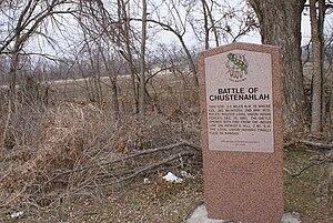 Battle of Chustenahlah - Osage County historical marker