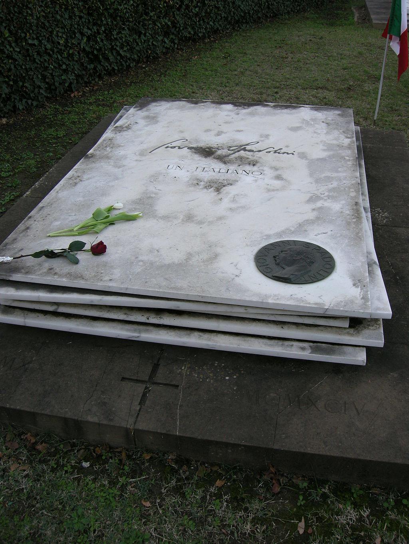 Cimitero delle porte sante, tomba di Giovanni Spadolini