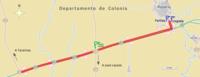 Circuito en Ruta 1 (Uruguay). Rosario-Tarariras-Rosario.png