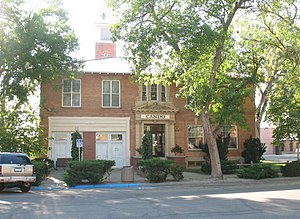 National Register of Historic Places listings in Converse County, Wyoming - Image: City Hall, Douglas, WY USA