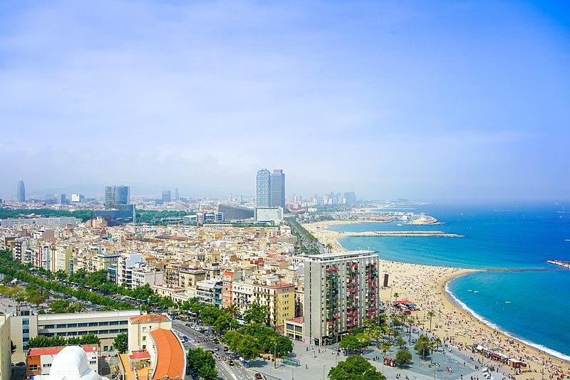 File:Cityscape of Barcelona city beach (Unsplash).jpg ...