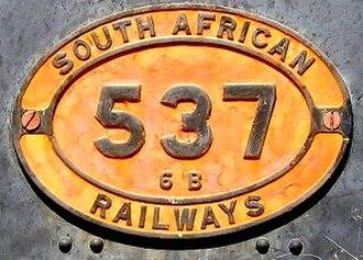 South African Class 6B 4-6-0 - Image: Class 6b 537 02