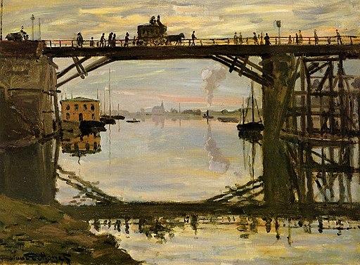 Claude Monet - The Highway Bridge under repair